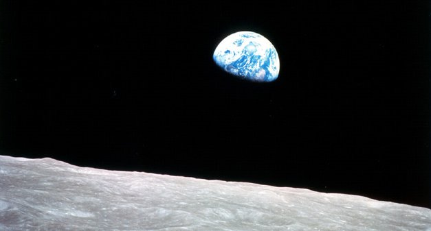 Apollo8 Earth from Moon